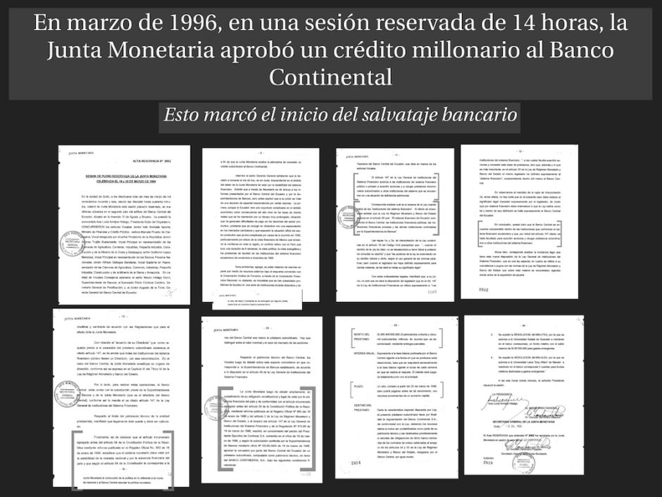 Entre aquí para ver: Acta de la sesión reservada de la Junta Monetaria en 1996.