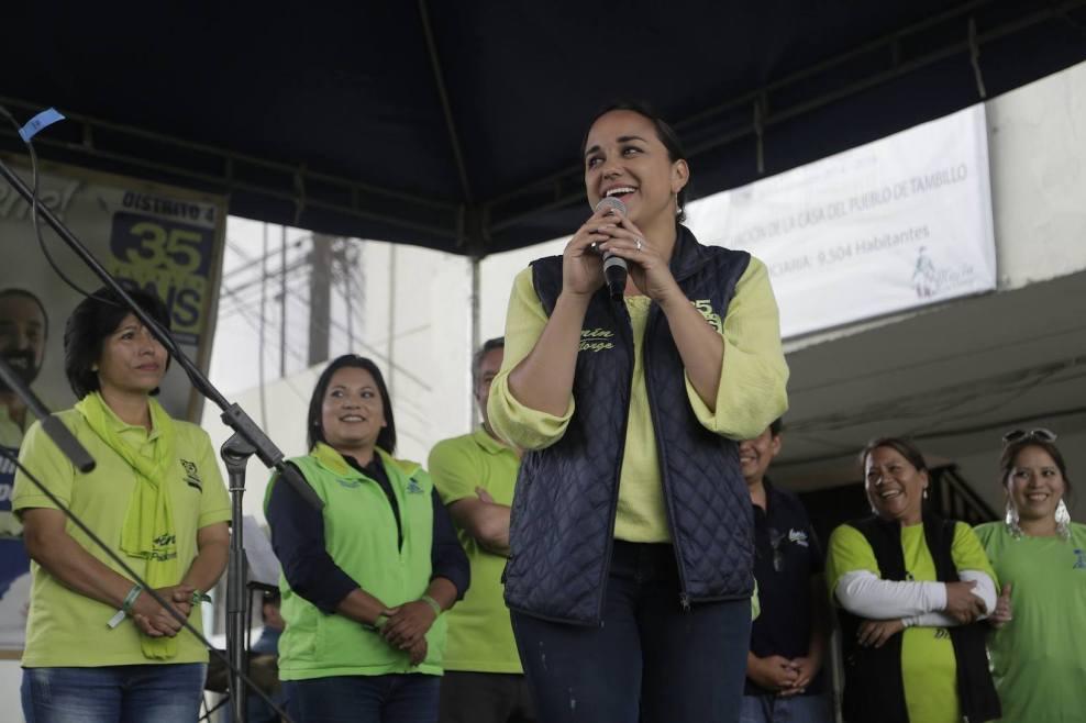 La parlamentaria Gabriela Rivadeneira es la candidata con más votos en Ecuador, incluso superó a candidatos presidenciales como Cynthia Viteri | Foto: Facebook.