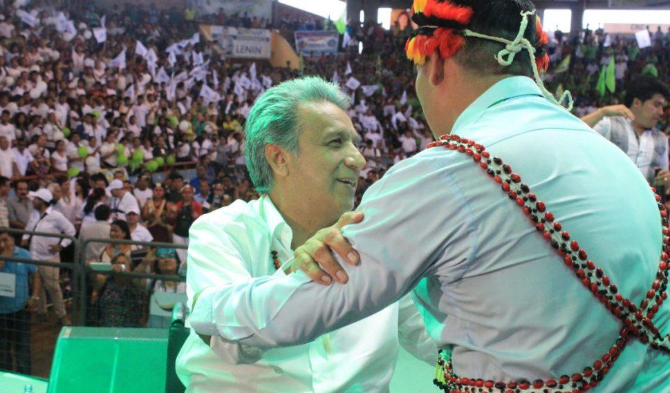 Federaciones Kichwas de Napo suman su apoyo a Lenin Moreno.